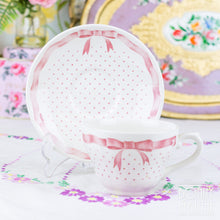 Load image into Gallery viewer, Churchill Vanity Fayre Pink Ribbon Teacup and Saucer
