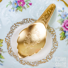 Load image into Gallery viewer, Engraved Gold Plated Tea Caddy Spoon