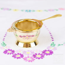 Load image into Gallery viewer, Gold Plated Long Handle Tea Strainer