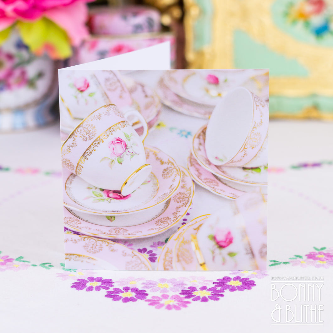 Notecards Pink Teacups