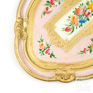 Florentine Tray Oval Small - Pink
