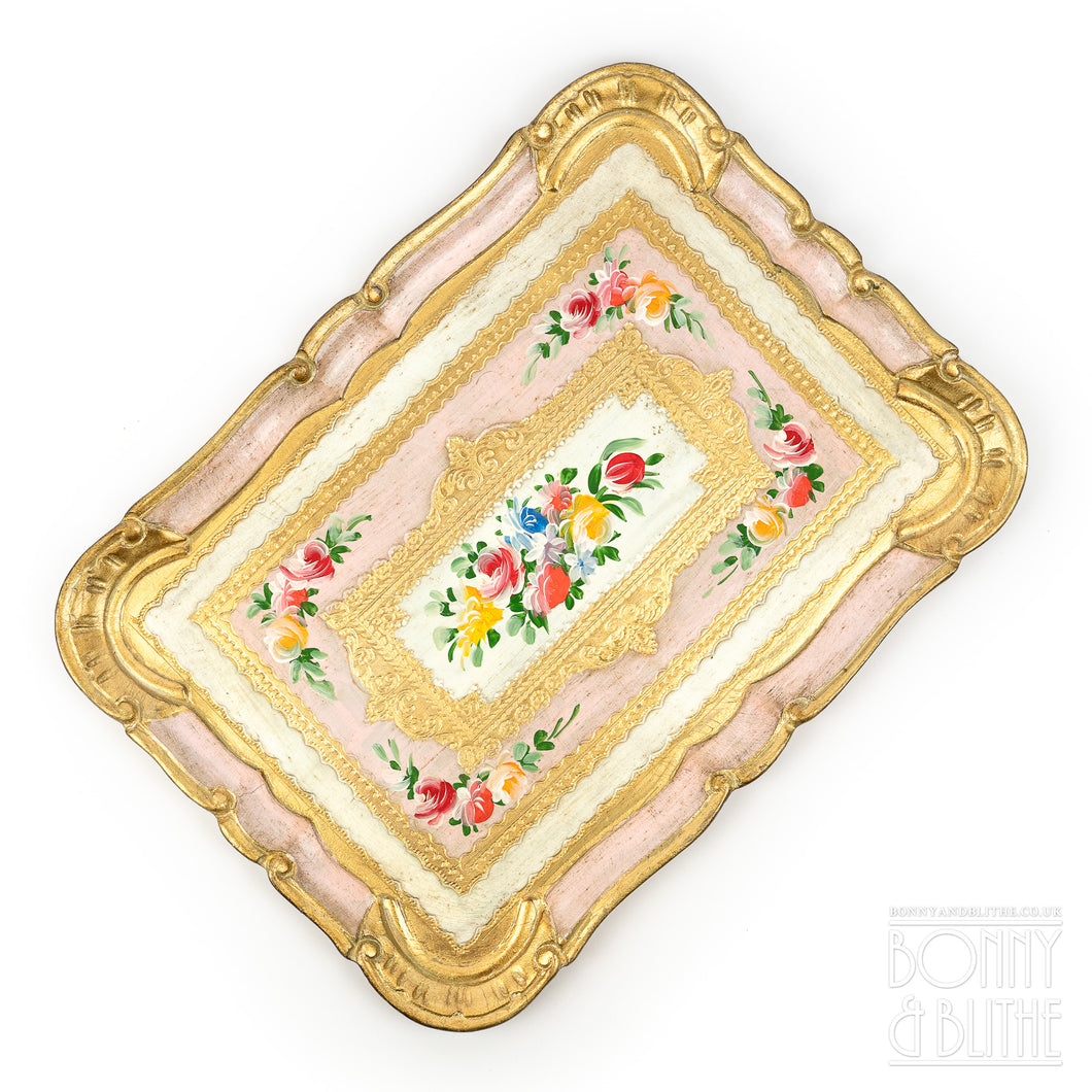 Florentine Tray Rectangle Medium  - Pink