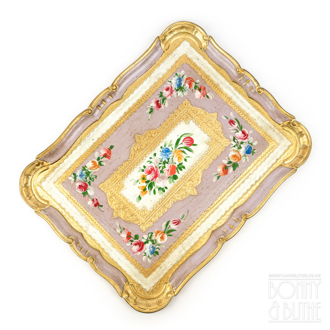 Florentine Tray Rectangle Large - Lilac