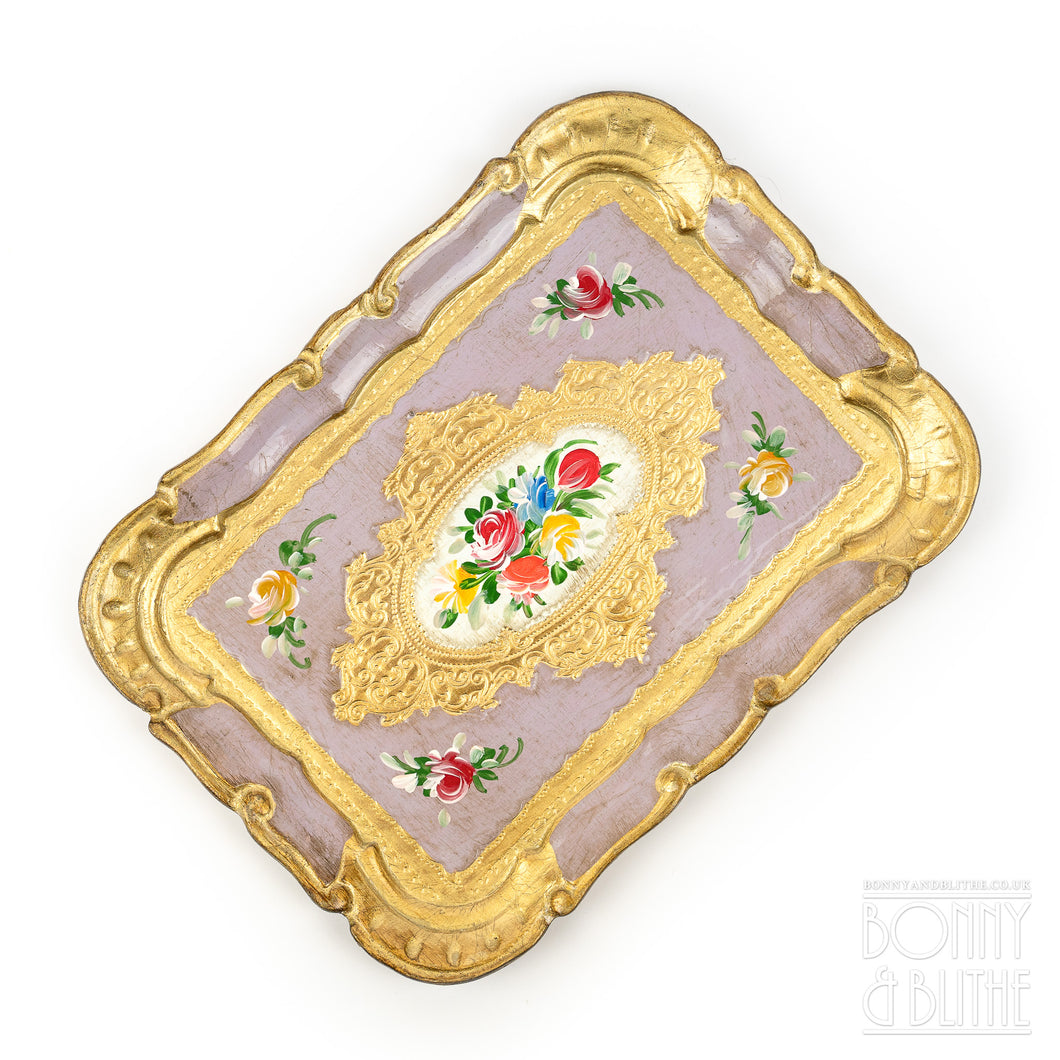 Florentine Tray Rectangle Small - Lilac