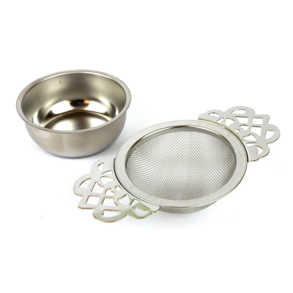 Empress Tea Strainer - Silver Colour