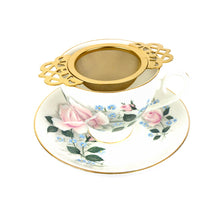 Load image into Gallery viewer, Empress Tea Strainer - Gold Plated