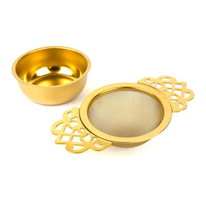 Empress Tea Strainer - Gold Plated