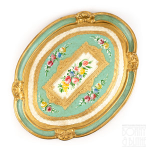 Florentine Tray Oval Medium - Green