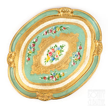 Load image into Gallery viewer, Florentine Tray Oval Large - Green