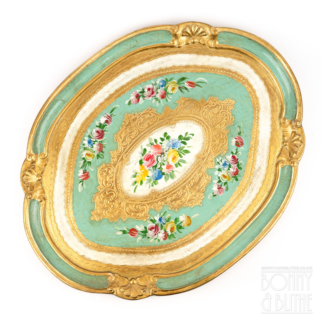 Florentine Tray Oval Large - Green