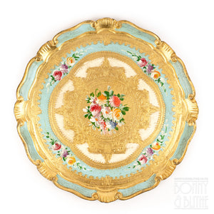 Florentine Tray Round Medium - Blue