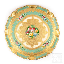 Load image into Gallery viewer, Florentine Tray Round Medium - Green
