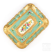 Load image into Gallery viewer, Florentine Tray Rectangle Small - Green