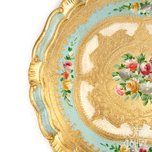 Load image into Gallery viewer, Florentine Tray Round Large - Blue
