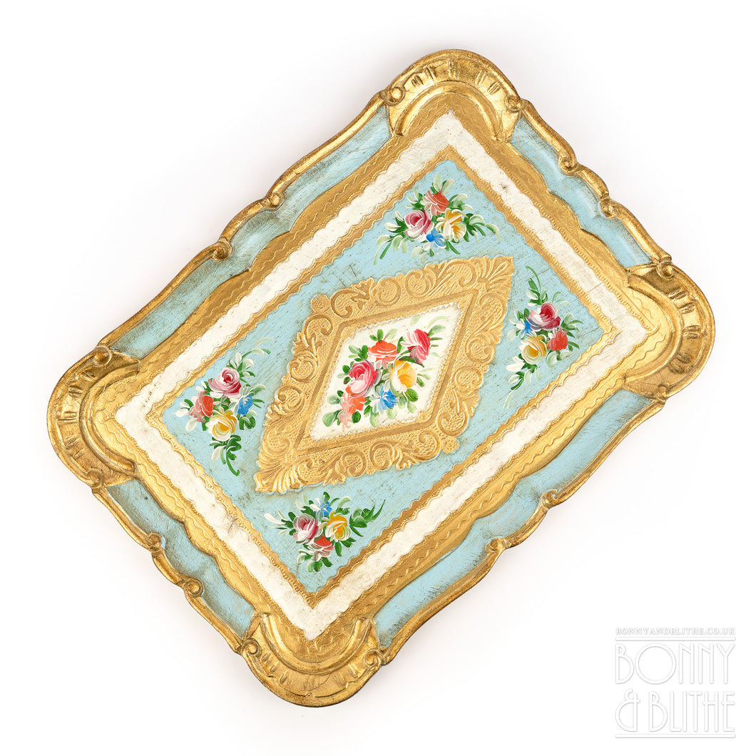 Florentine Tray Rectangle Medium  - Blue
