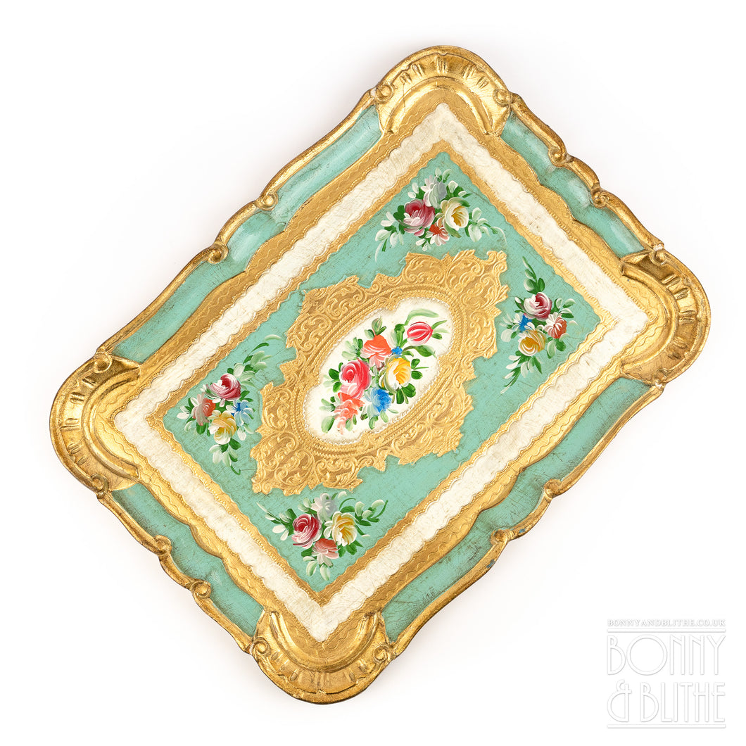 Florentine Tray Rectangle Medium  - Green