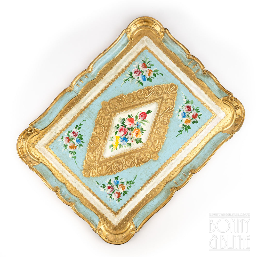 Florentine Tray Rectangle Large - Blue