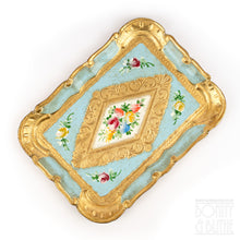 Load image into Gallery viewer, Florentine Tray Rectangle Small - Blue