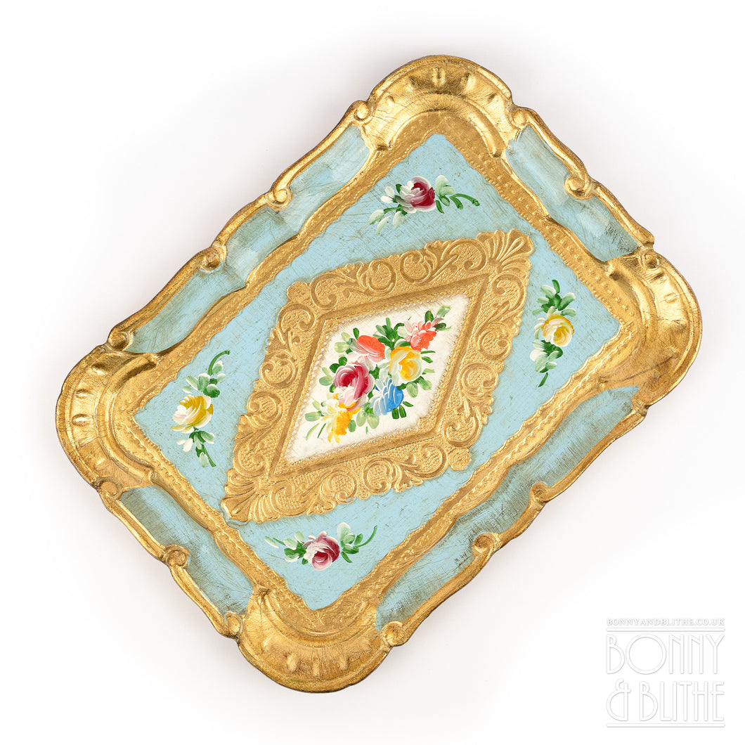 Florentine Tray Rectangle Small - Blue