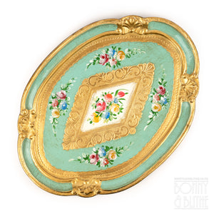 Florentine Tray Oval Small - Green
