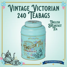 Load image into Gallery viewer, Vintage Victorian Tin 240 English Breakfast Teabags