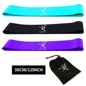 Resistance Elastic Bands For Fitness (Set of 3/4/5) + Free Bag