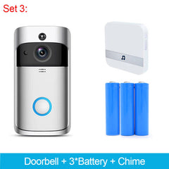 Wireless Smart Video Doorbell Infrared Night Vision Motion Detection