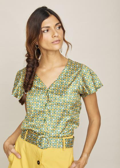 Blusa MC Mora Amarillo