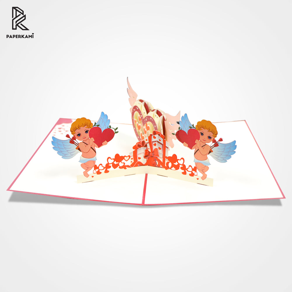 3D Pop Up Cupid Valentine's Day Greeting Card - Unique Gift