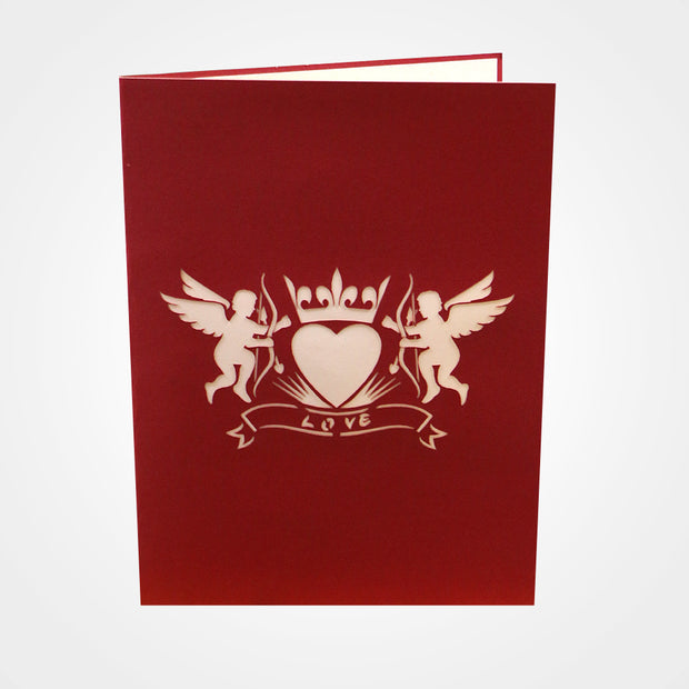 3D Pop Cupid Valentine's Day Greeting Card