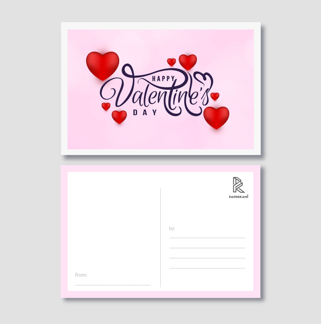 Valentine's Day Post Card - Unique Gift