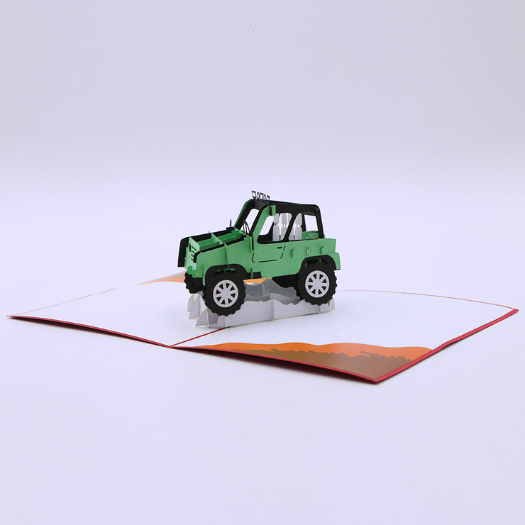 Greeting Card For Him - Rover Pop Up Card