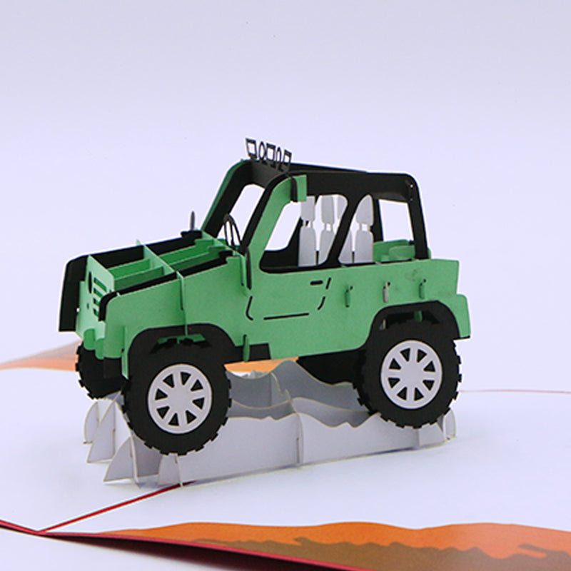 Greeting Card For Him - Rover Pop Up Card - Unique Gift