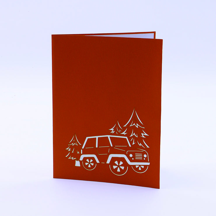 Greeting Card For Him - Rover Pop Up Card Front