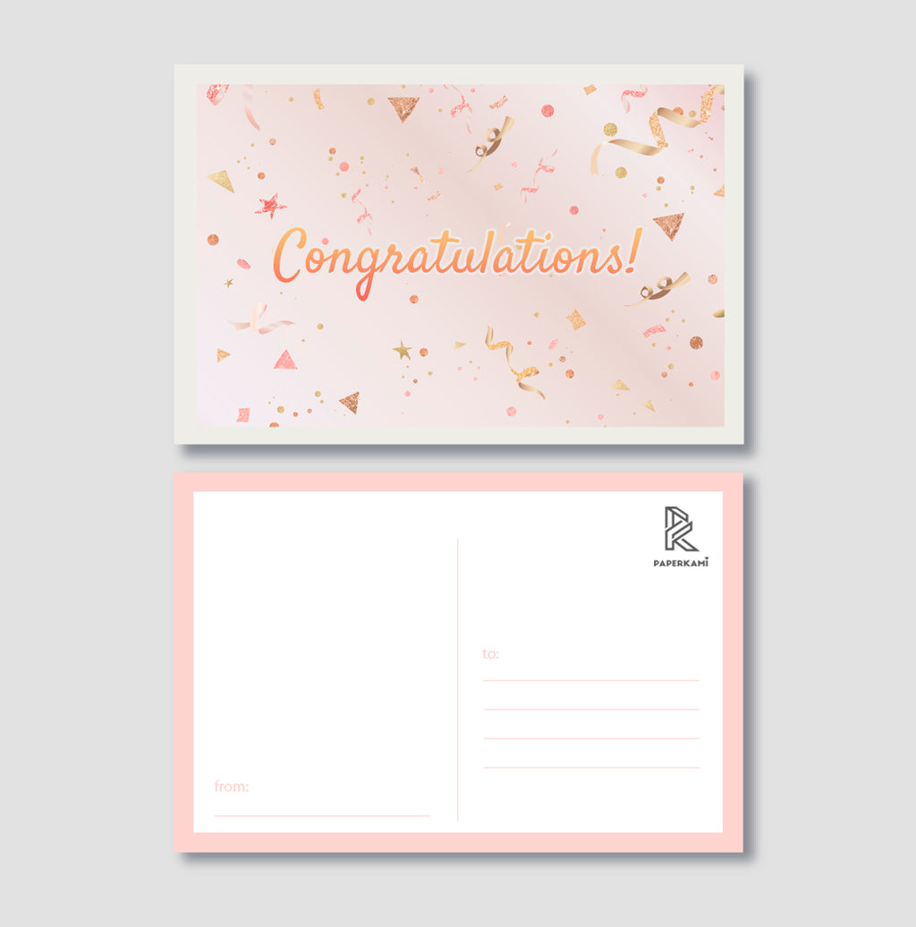 Congratulations Post Card - Unique Gift