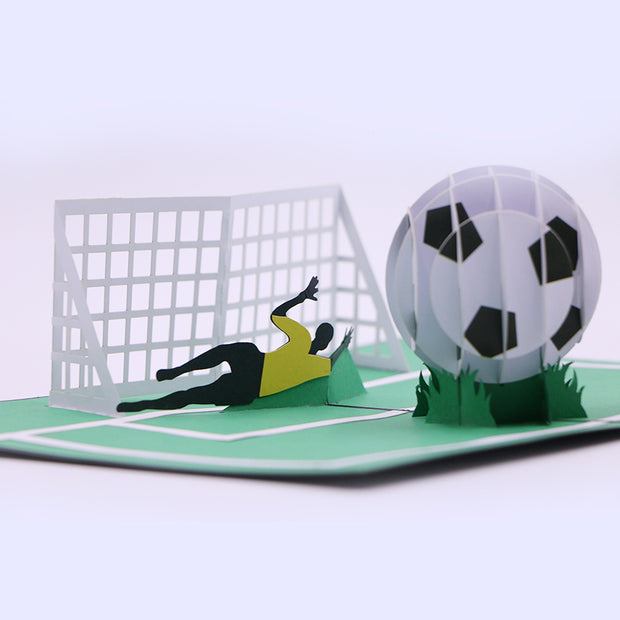Footballer 3D Pop Up Greeting Card