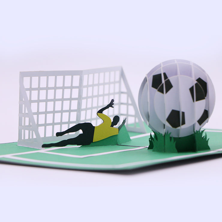 Footballer Pop Up Greeting Card