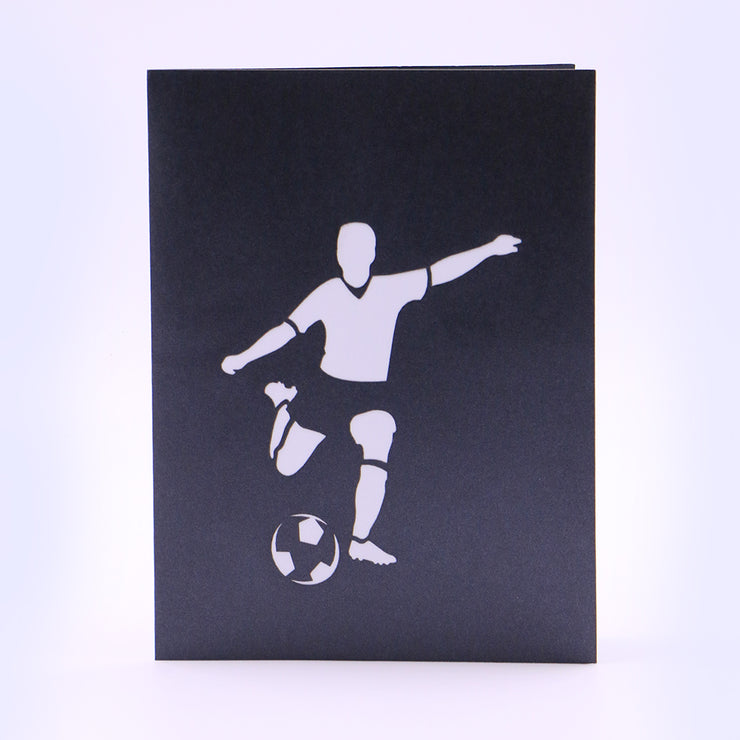 Footballer 3D Pop Up Greeting Card- Black Color