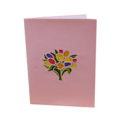 Flower Bouquet Love Greeting Card - Multicolour