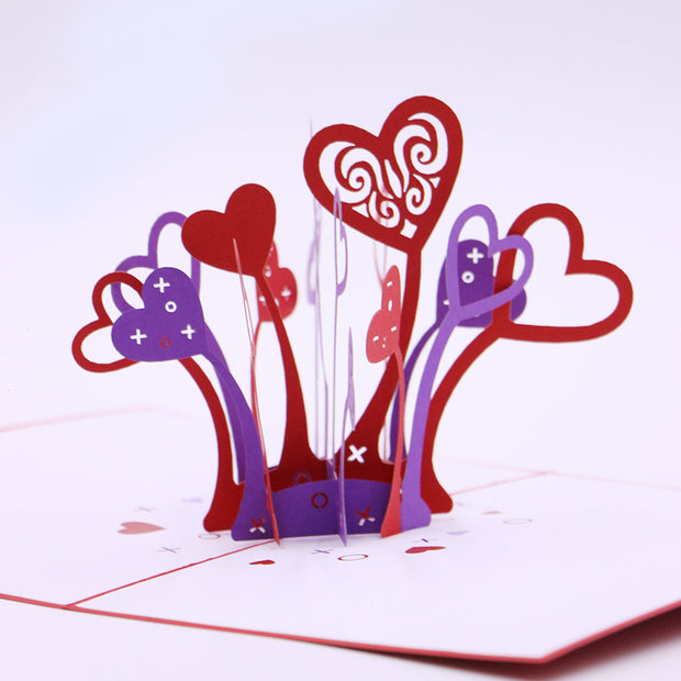 Heart Explosion Valentine's 3D Pop Up Greeting Card
