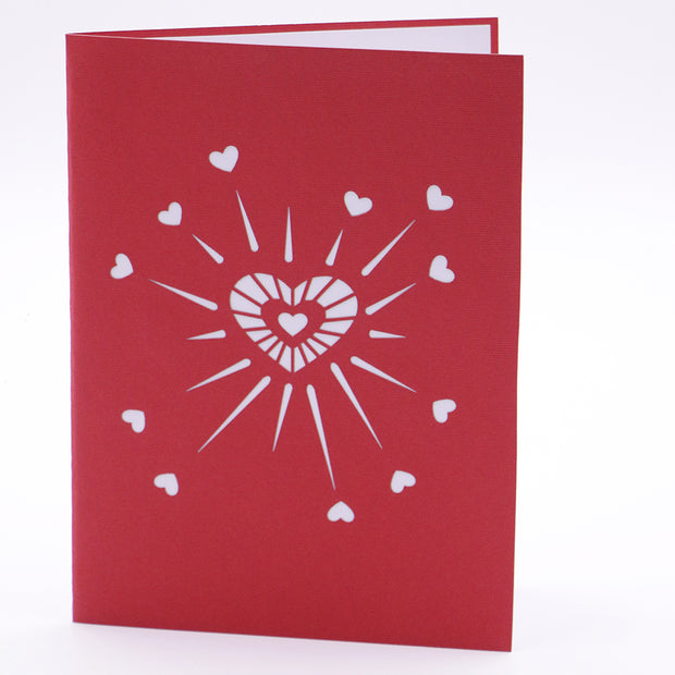 Heart Explosion 3D Greeting Card
