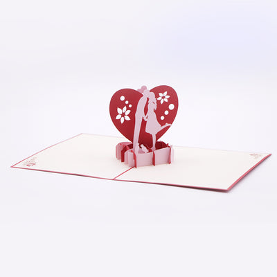 Magical Kiss Valentine's 3D Greeting card