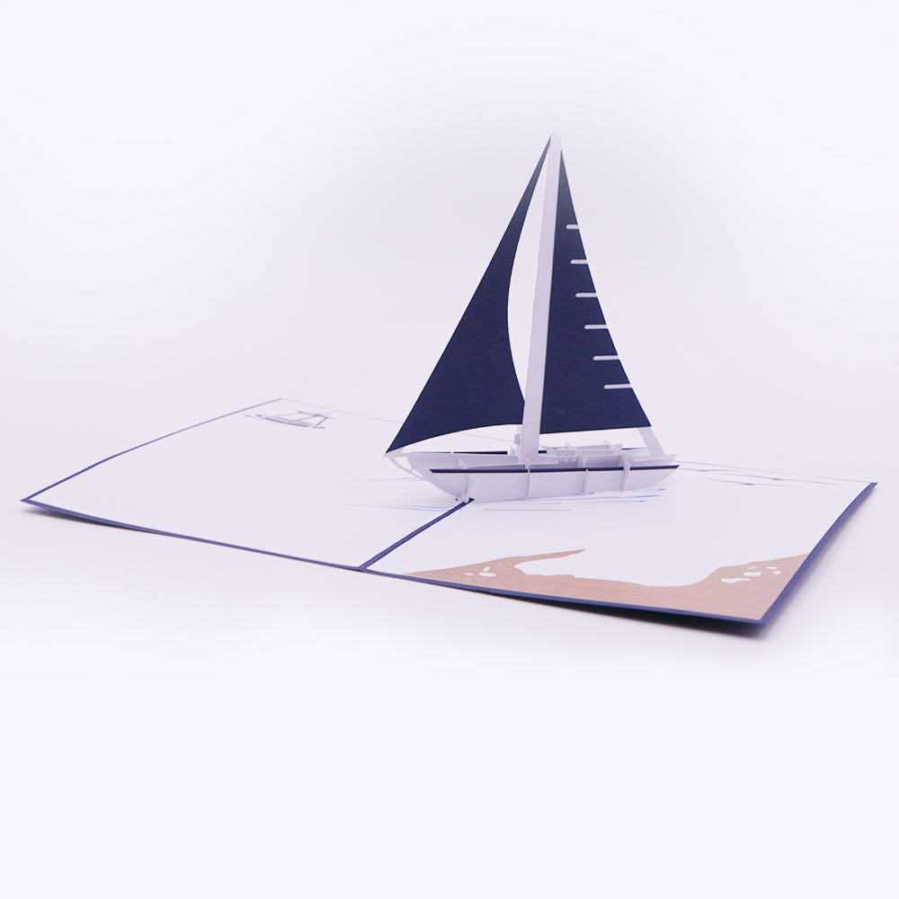 Sailing Ship Pop Up Card - Unique Gift