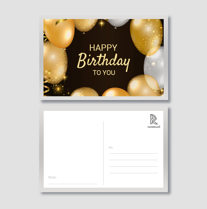 Happy Birthday Post Card - Unique Gift