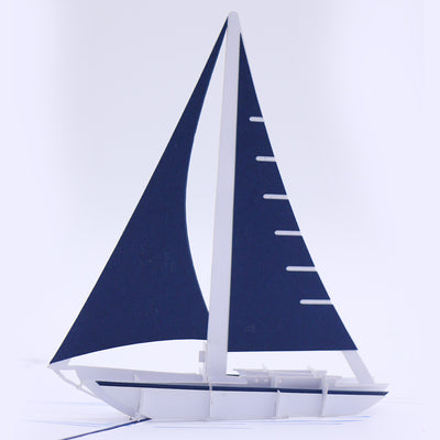 Sailing Ship 3D Pop Up Greeting Card