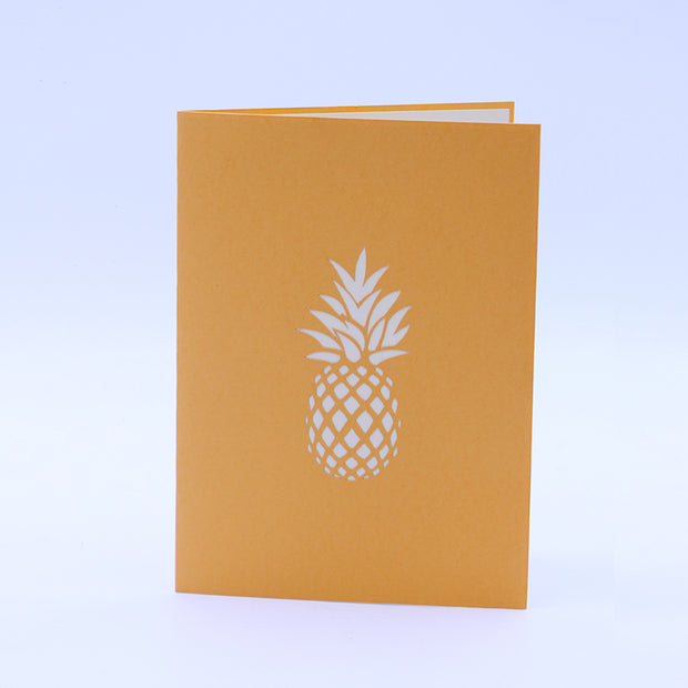 Pineapple Pop Up Card - Yellow Front