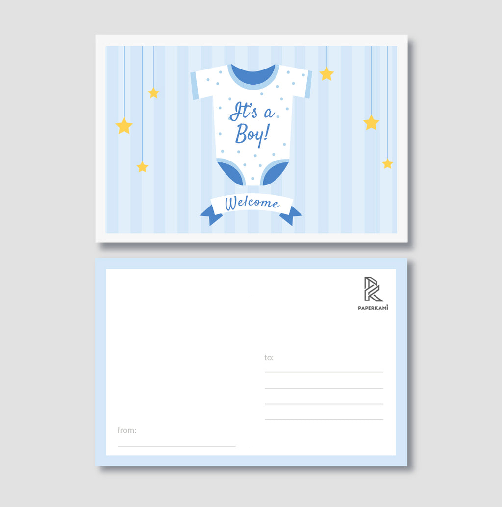 Baby Shower Boy Post Card - Unique Gift