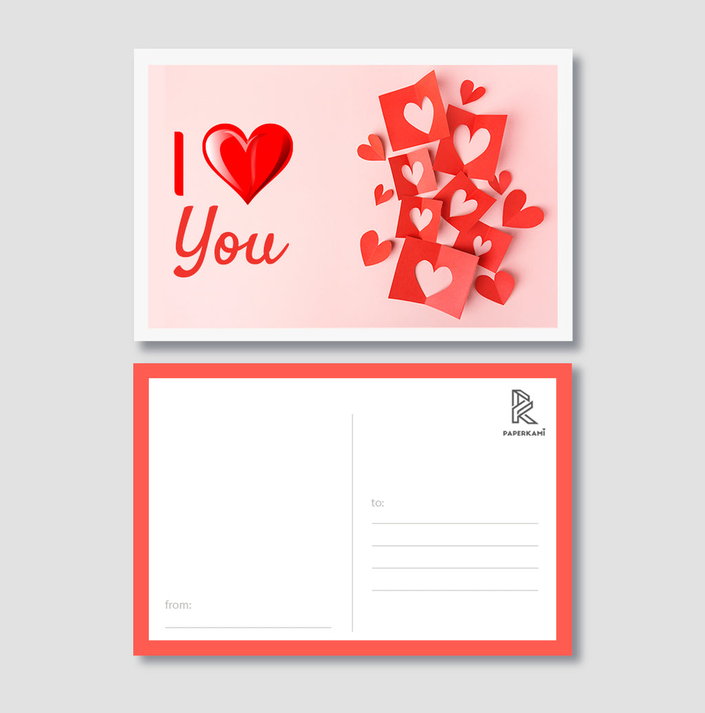 I Love You Post Card - Unique Gift