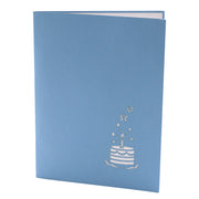 Birthday Celebration Pop up Card - Blue - paperkami