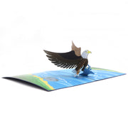 Congratulation Greeting Card, Eagle Motif - paperkami